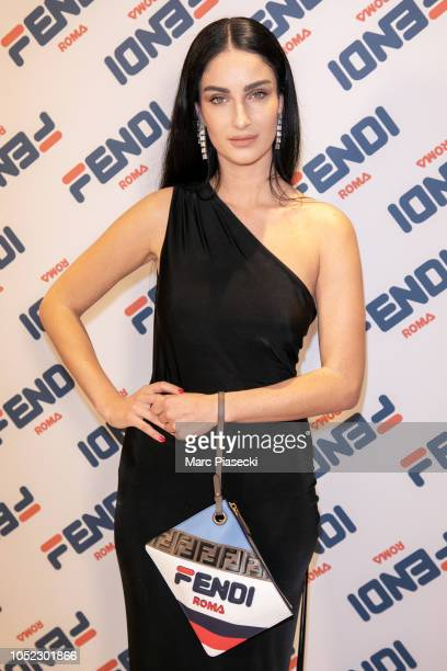 Fiona Zanetti attends the #Fendimanianew collection launch at Fendi flagship store Rue Saint Honore on October 16 2018 in Paris France