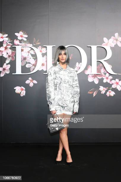 Fiona Zanetti attends the photocall at the Dior Pre Fall 2019 Men's Collection on November 30 2018 in Tokyo Japan