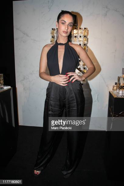 Fiona Zanetti attends the Yves Saint Laurent Beauty and Dua Lipa celebrating the launch of the new fragrance 'Libre' at Castel Club on September 25...