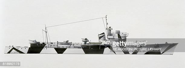 Fionda torpedo boat Italy drawing