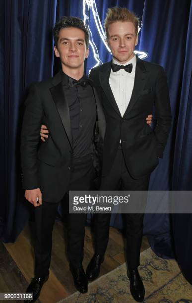 Fionn Whitehead and Jack Lowden attend the Grey Goose 2018 BAFTA Awards after party on February 18 2018 in London England