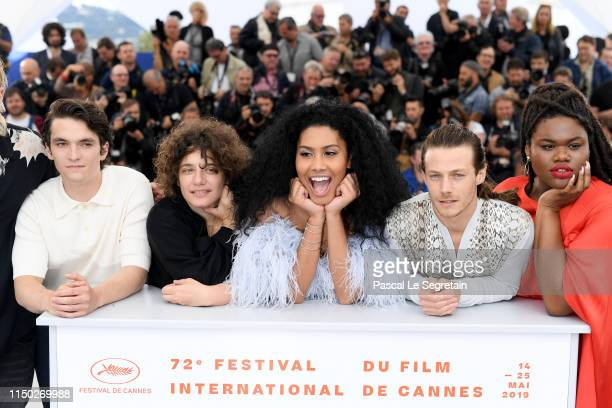 Fionn Whitehead Danielle Lessovitz Lenya Bloom McCaul Lombardi and Jari Jones attend the photocall for Port Authority during the 72nd annual Cannes...