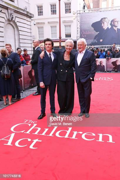 """Fionn Whitehead, Emma Thompson and Richard Eyre attend the UK Premiere of """"The Children Act"""" at The Curzon Mayfair on August 16, 2018 in London,..."""