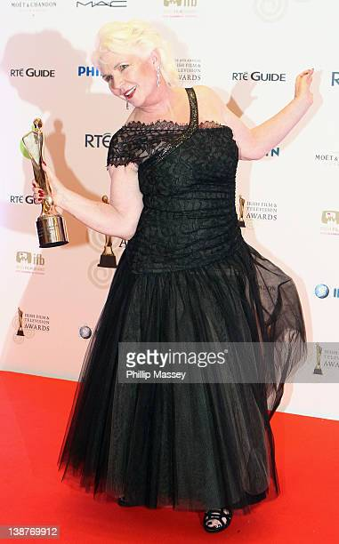 Fionnula Flanagan wins the Lifetime Achievement award at the 'Irish Film and Television Awards' at Convention Centre Dublin on February 11 2012 in...