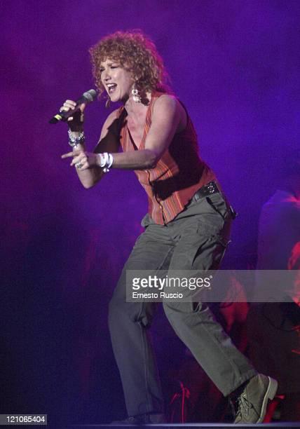 Fiorella Mannoia during LIVE 8 Rome Show at Circus Maximus in Rome Italy