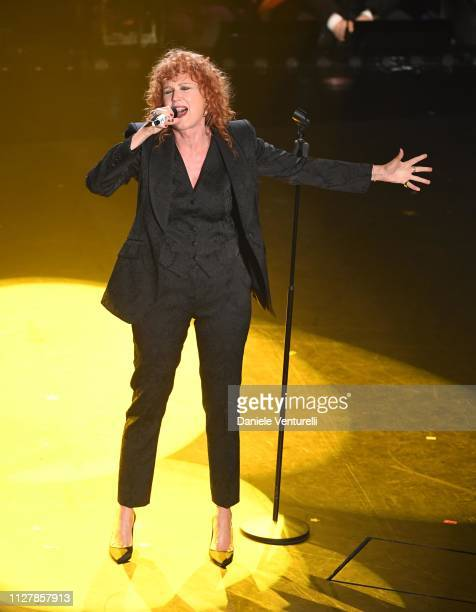Fiorella Mannoia on stage during the second night of the 69th Sanremo Music Festival at Teatro Ariston on February 06 2019 in Sanremo Italy