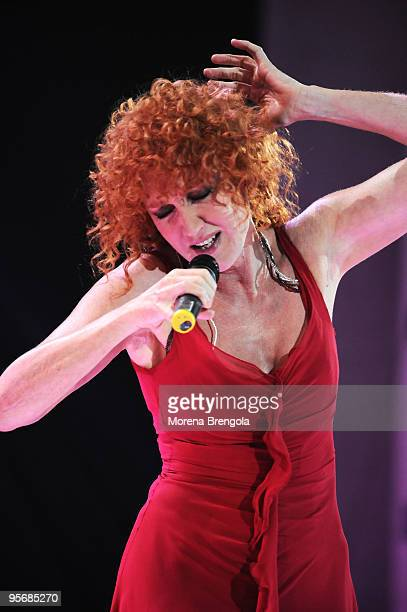 Fiorella Mannoia performs at the Arena of Verona during the Wind Music Awards on June 7 2009 in Verona Italy