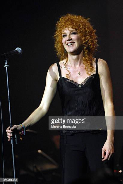 Fiorella Mannoia performs at the Smeraldo's theatre on March 16 2007 in Milan Italy