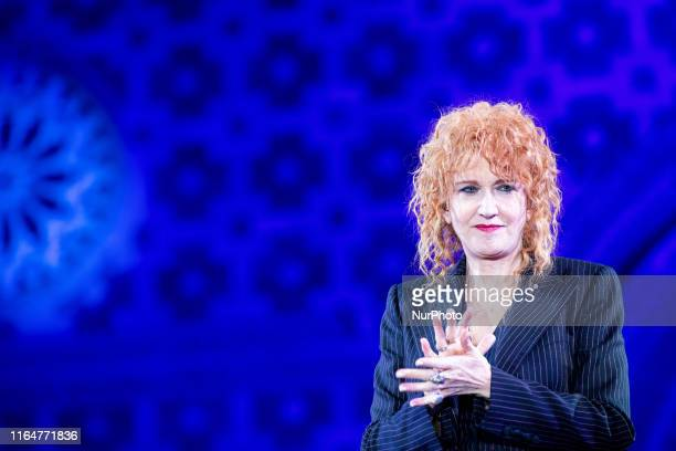 Fiorella Mannoia performs during the closing night of 725th Celestine Pardon in L'Aquila Italy on August 29 2019