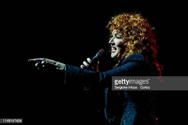 Fiorella Mannoia performs on stage at Teatro Degli Arcimboldi on May 14 2019 in Milan Italy