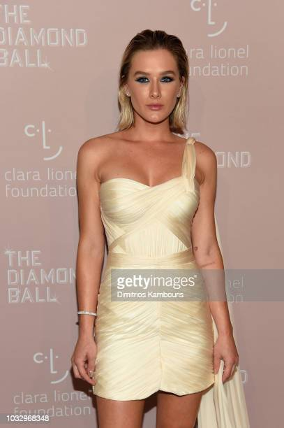 Fiorella Mattheis attends Rihanna's 4th Annual Diamond Ball benefitting The Clara Lionel Foundation at Cipriani Wall Street on September 13 2018 in...