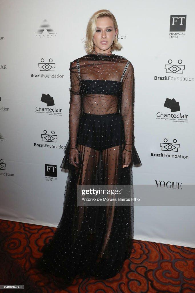 Fiorella Mattheis attends the 2017 Brazil Foundation Gala on September 13, 2017 in New York City.