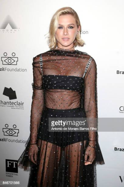 Fiorella Mattheis attends the 2017 Brazil Foundation Gala on September 13 2017 in New York City