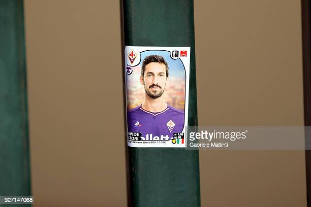 Fiorentina fans pay their respects to Davide Astori captain of ACF Fiorentina at Stadio Artemio Franchi on March 4 2018 in Florence Italy Italy...