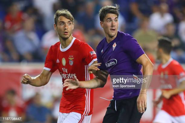 Fiorentina forward Dusan Vlahovic during the second half of the International Champions Cup match between S.L. Benfica and ACF Fiorentina on July 24,...