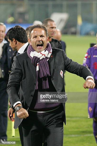 Fiorentina head coach Sinisa Mihajlovic celebrates the victory after the Serie A match between ACF Fiorentina and AS Bari at Stadio Artemio Franchi...