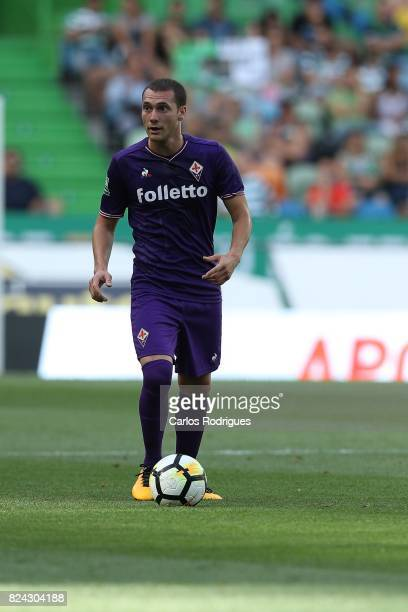 Fiorentina midfielder Sebastian Cristoforo from Urugay during the Five Violins Trophy match between Sporting CP and AC Fiorentina at Estadio Jose...