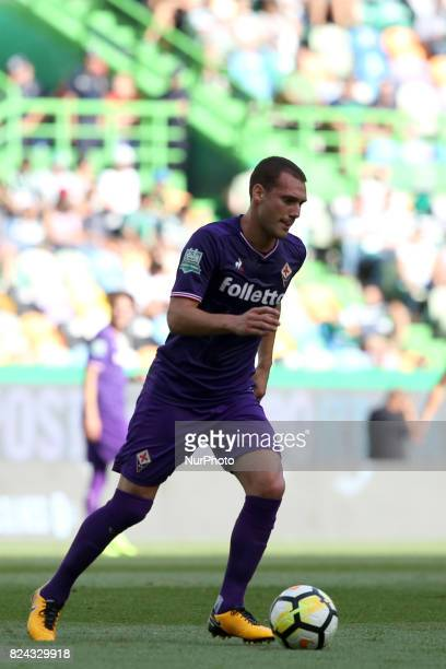 Fiorentina midfielder Sebastian Cristoforo from Urugay in action during the Trophy Five Violins 2017 final football match Sporting CP vs ACF...