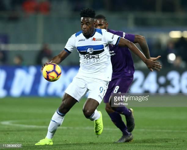 Italian Cup semifinal Andreas Cornelius of Atalanta at Artemio Franchi Stadium in Florence Italy on February 27 2019