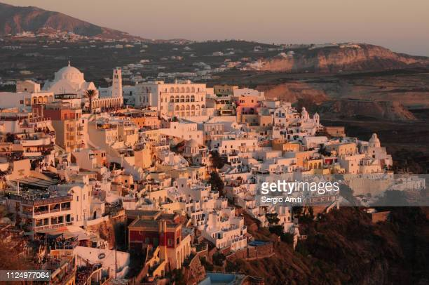 Fira at sunset