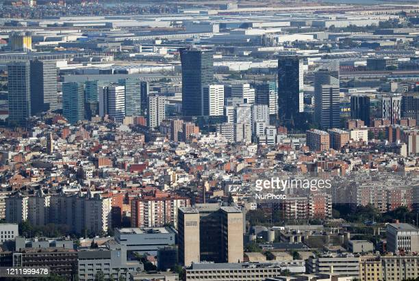 Fira de Barcelona area Barcelona reaches historic lows in air pollution on 06th May 2020