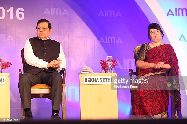 Firdose Vandrevala with Rekha Sethi during the All India Management Association 's Managing India Awards 2016 at Hotel Taj Palace in New Delhi, India.