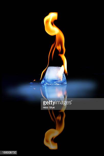fire and ice - the four elements stock pictures, royalty-free photos & images