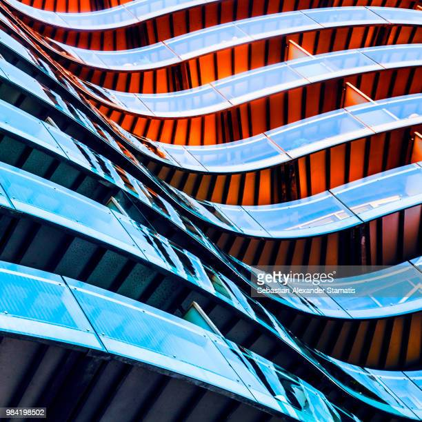 fire and ice - architecture stock pictures, royalty-free photos & images