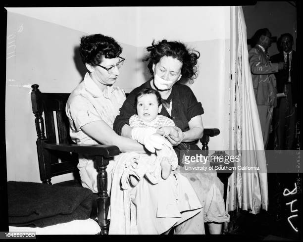 Fire at 3918 Second Place 31 January 1956 2 children burned to deathFather Steven Kelly Connie Pina Mrs Bessie G Long Ruben Ramirez 23 years Caption...