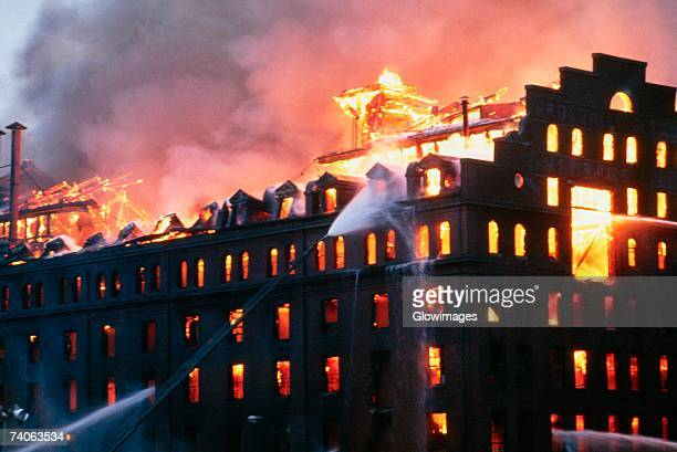 Fire at a factory, Baltimore, Maryland, USA