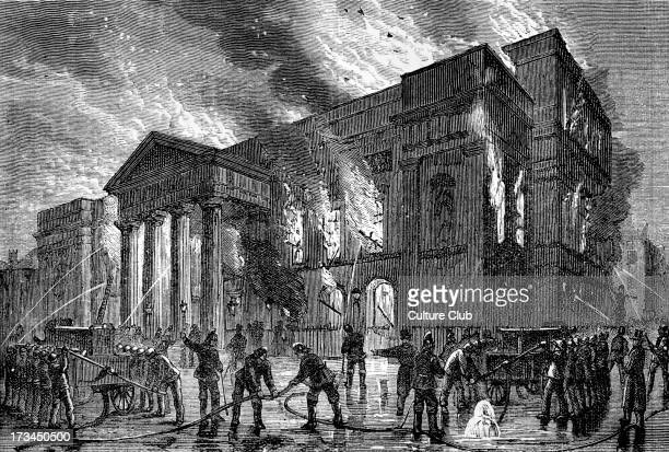 Fire at the Covent Garden Theatre London during a bal masque given by Professor Anderson Opened 7 December 1732