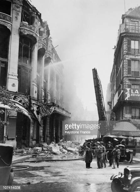 Fire At The Nouvelles Galeries At Paris In France