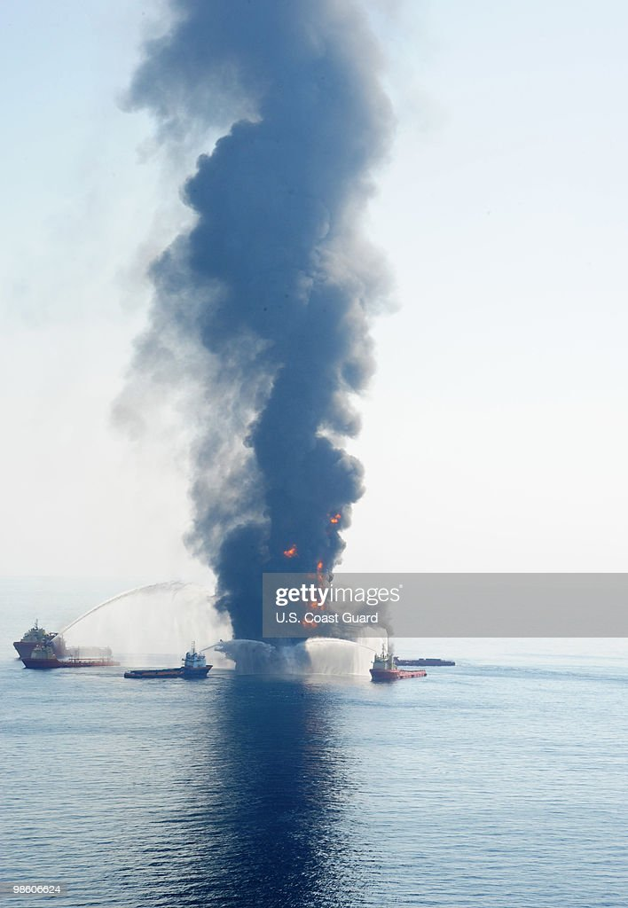 Eleven People Missing After Explosion At Offshore Drilling Rig : News Photo
