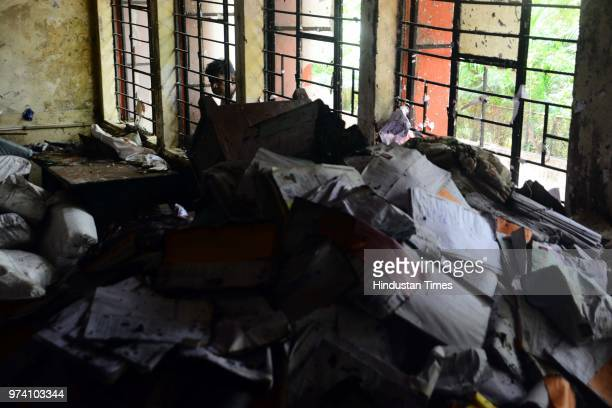 A fire breaks out on the first floor of the Regional Transport Office due to short circuit on June 13 2018 in Pune India No one was injured in this...