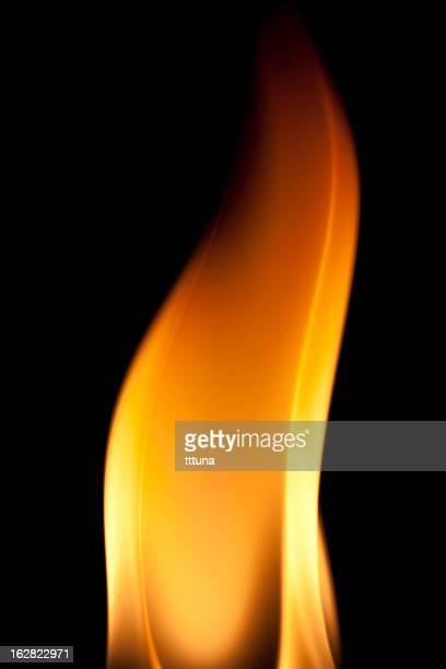 シンプル、暖炉の炎を燃やす、黒色の背景
