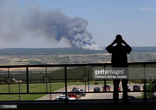 A fire burns out of control in Colorado Springs Colorado Tuesday June 11 2013