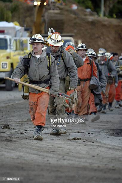 Fire crews and other rescuers worked nonstop to locate survivors trapped after a catastrophic mudslide in La Conchita California