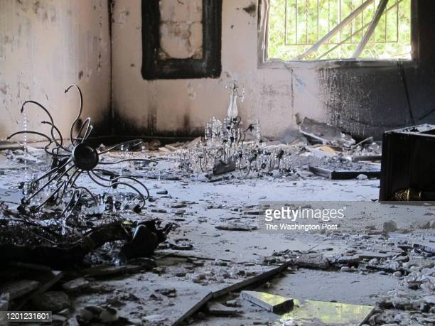 Fire damage in the main compound villa in which Ambassador J. Christopher Stevens suffered the asphyxiation that killed him at the U.S. Consulate in...