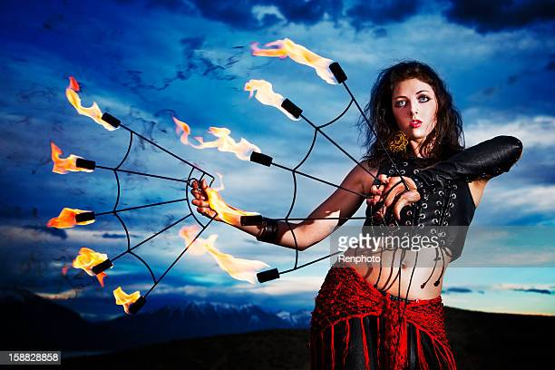 Fire Dancer with Motion Blur