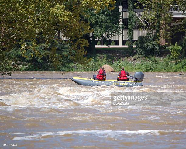 fire department search and rescue - flooding stock photos and pictures