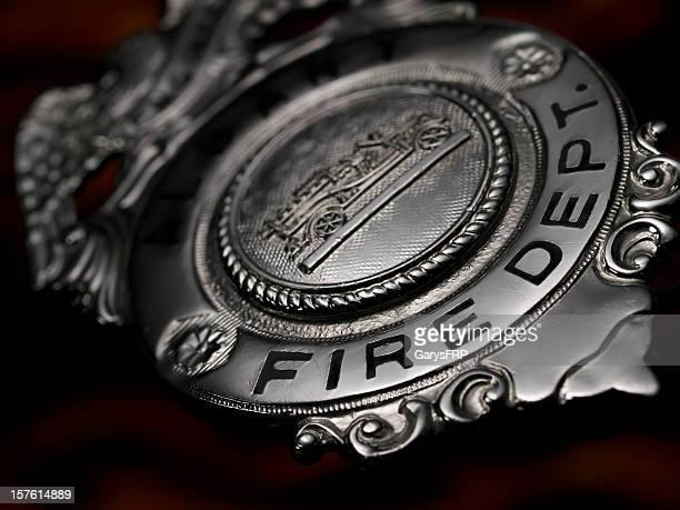 Fire Deptartment Fireman Firefighter firemen metal Badge Silver