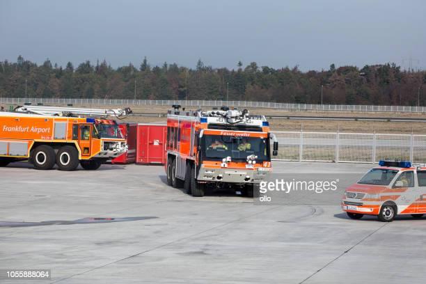 Brandschutzübung am Frankfurter Flughafen