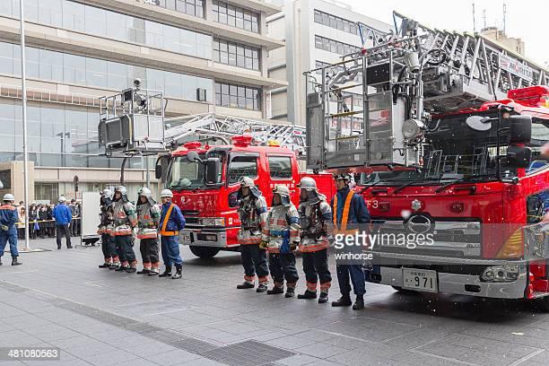 火災訓練を義務付けられて京都、日本 - 練習 ストックフォトと画像