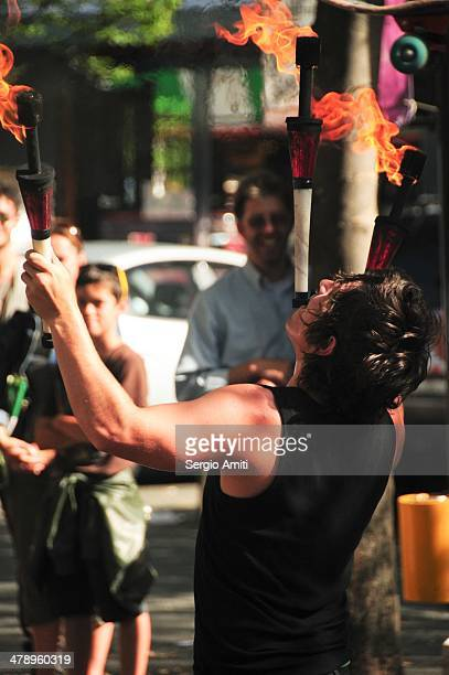 Fire eater in Vancouver