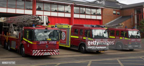 lfb fire engine 2 - firetruck stock photos and pictures