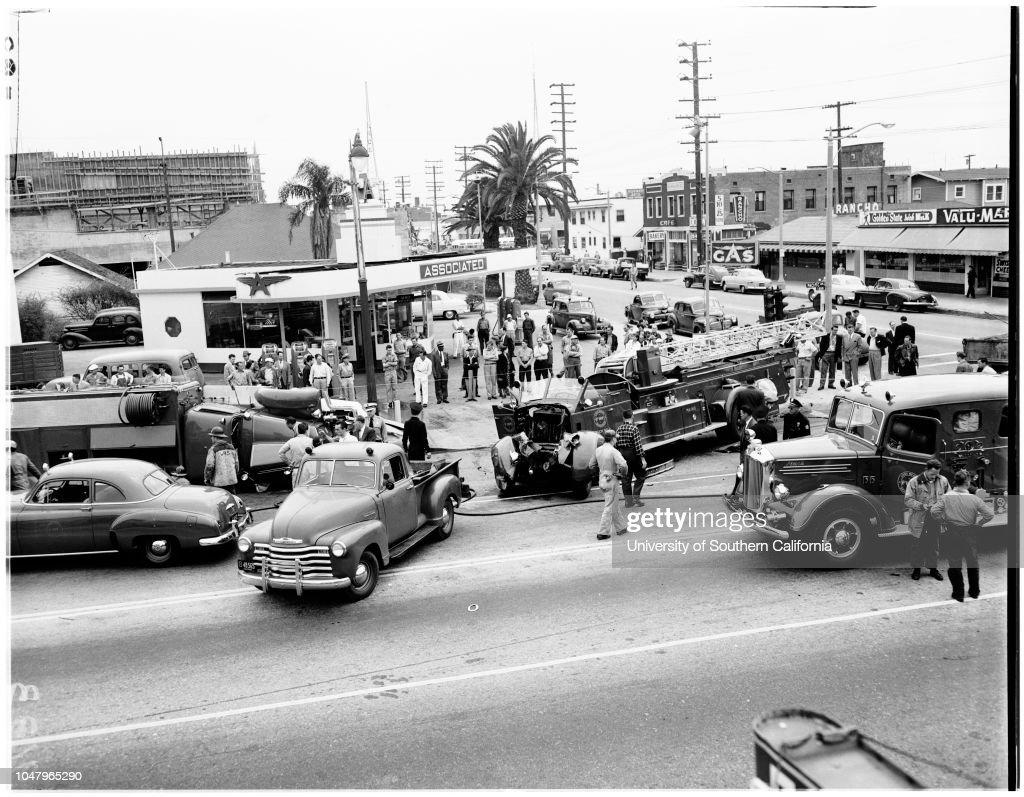 Fire engine accident, April 18, 1951  Victor R Sutton