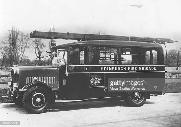 Fire Engine constructed by Messrs Dennis Bros for the Edinburgh Fire Brigade Edinburgh Scotland early to mid 20th century