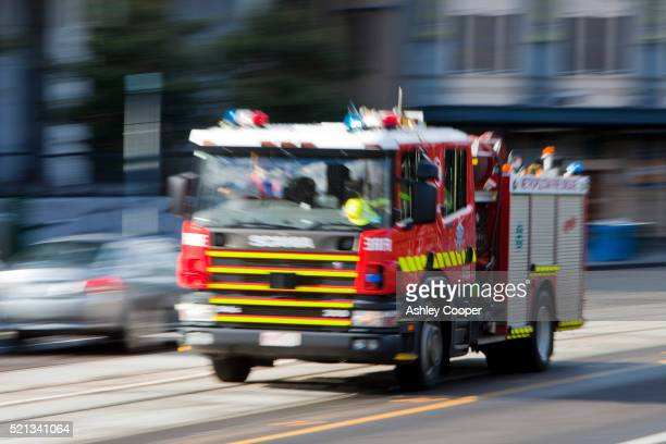 Fire engine in Melbourne
