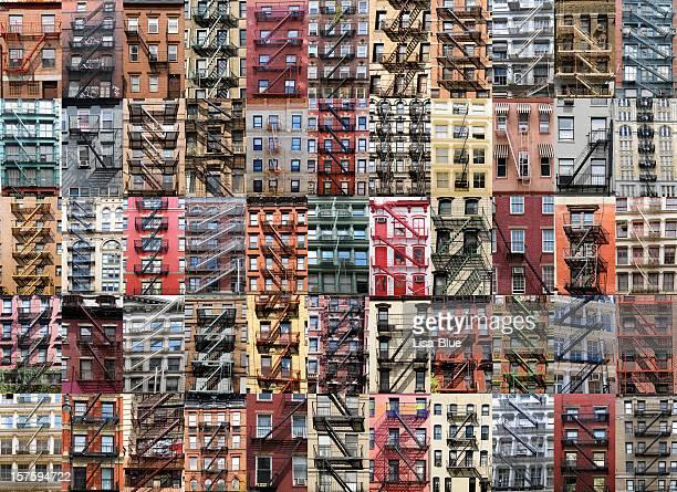 Escalier de secours Apartments Collage, à New York.