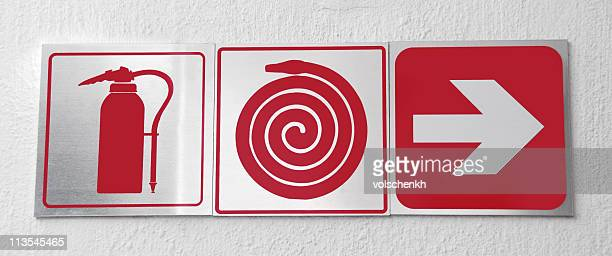 fire exit - fire extinguisher stock photos and pictures